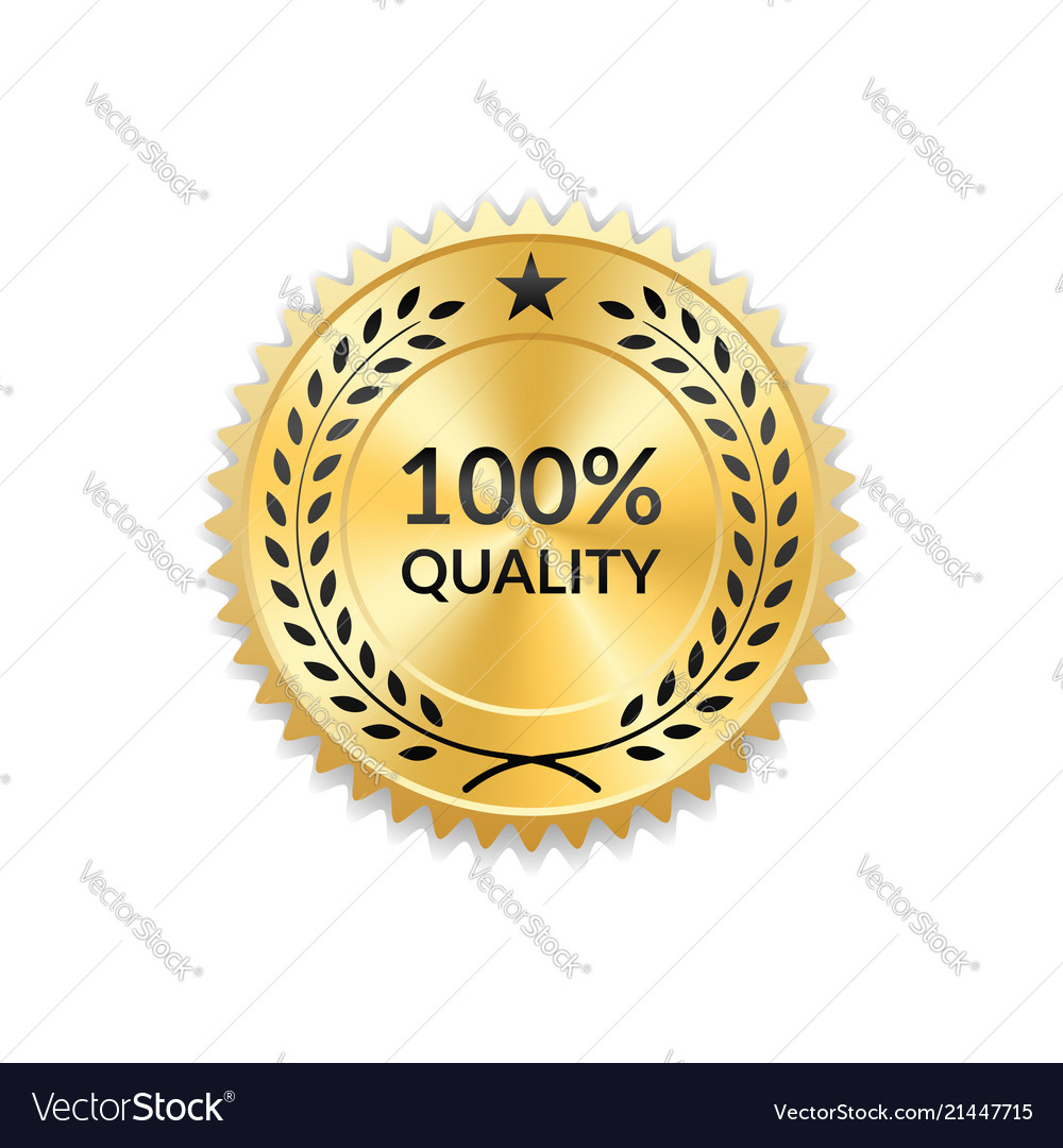 Seal award gold icon blank medal isolated white