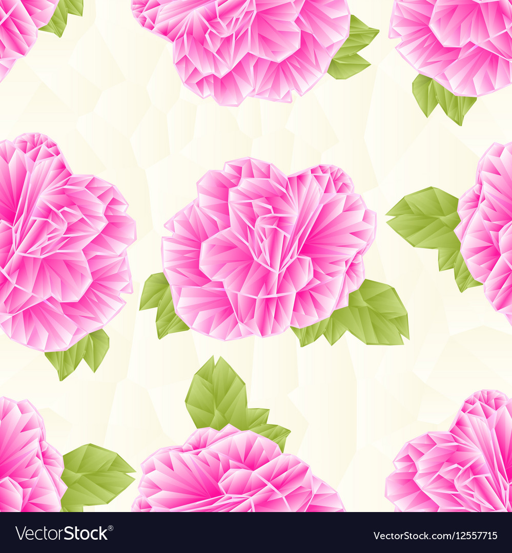 Seamless Texture Camellia Japonica Pink Flower Vector Image