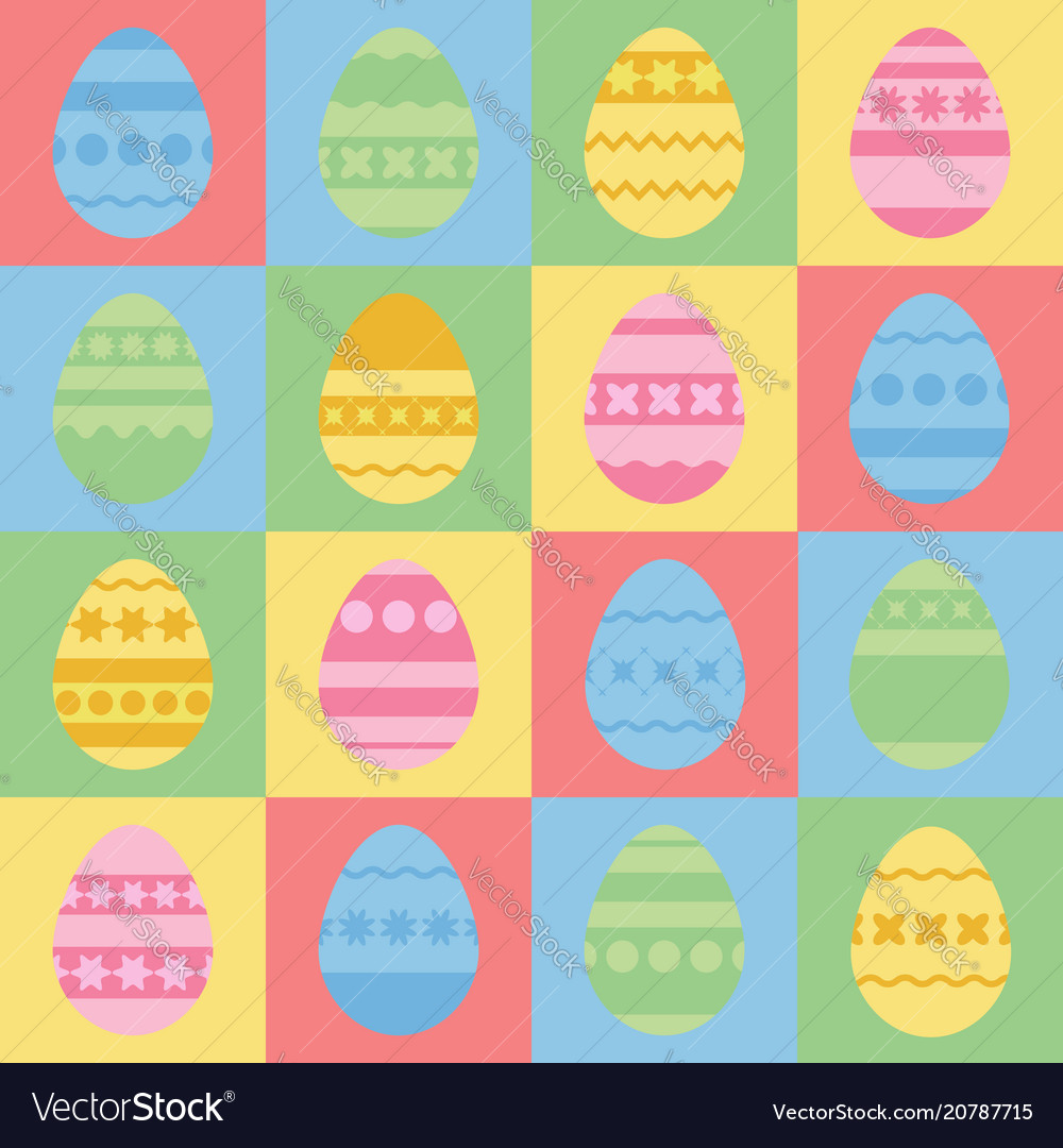 Set of colored silhouettes of isolated easter
