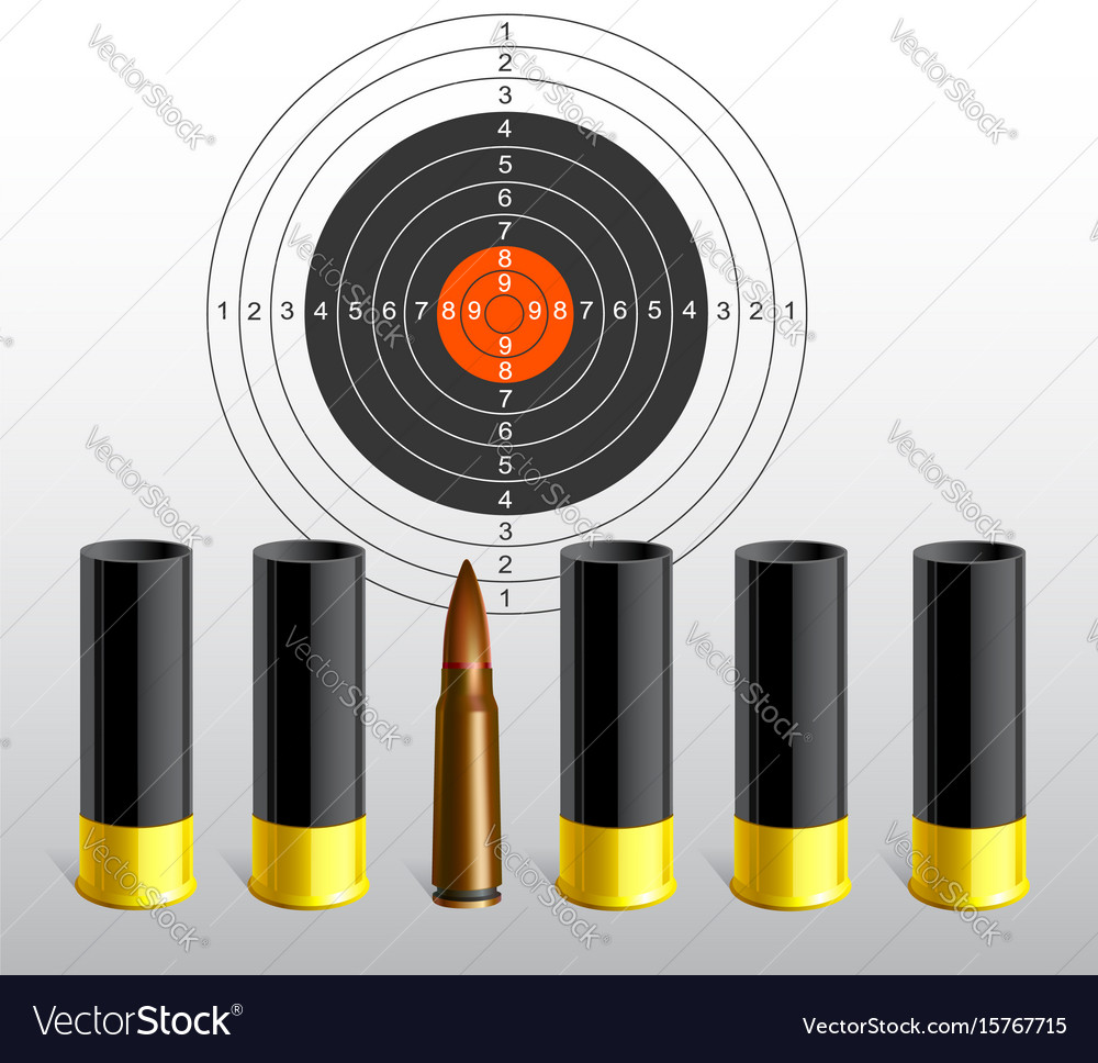 Target with bullets