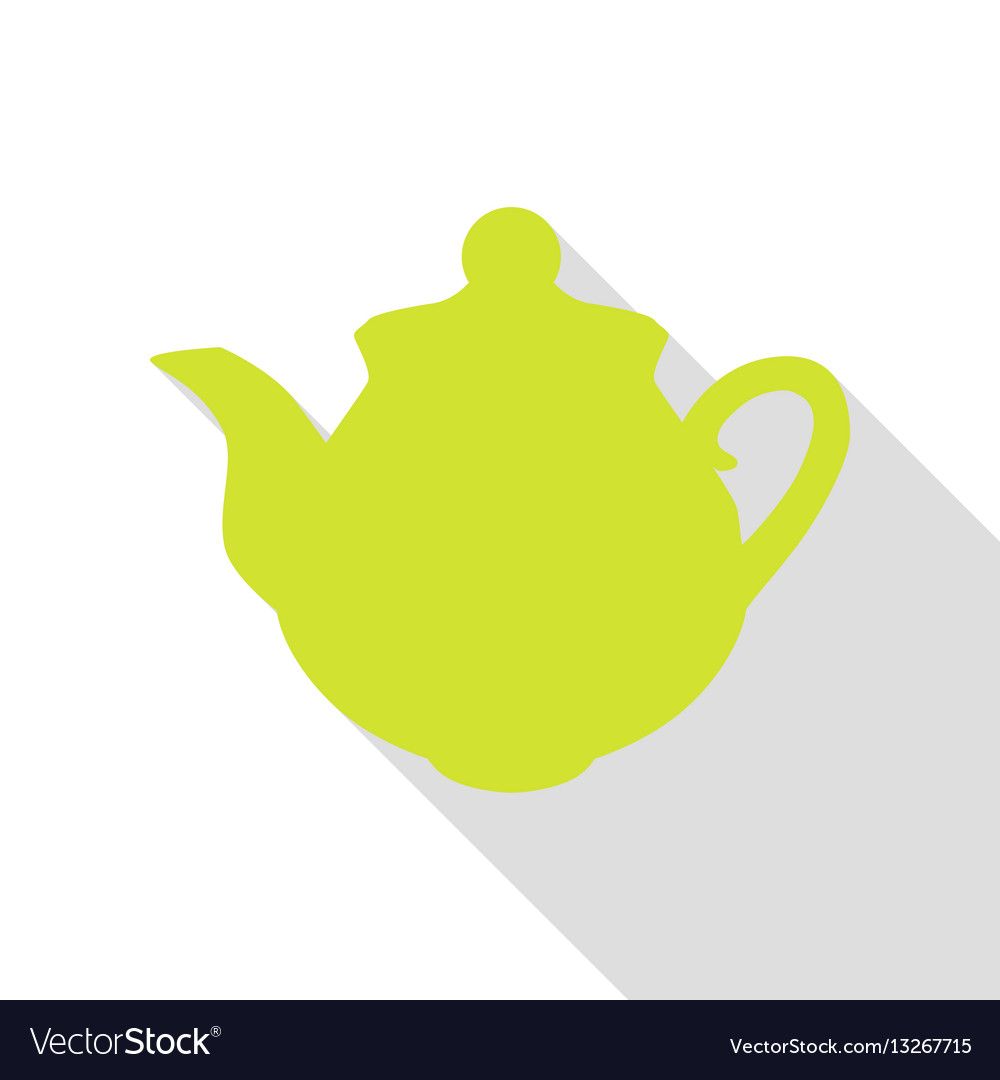 Tea maker sign pear icon with flat style shadow