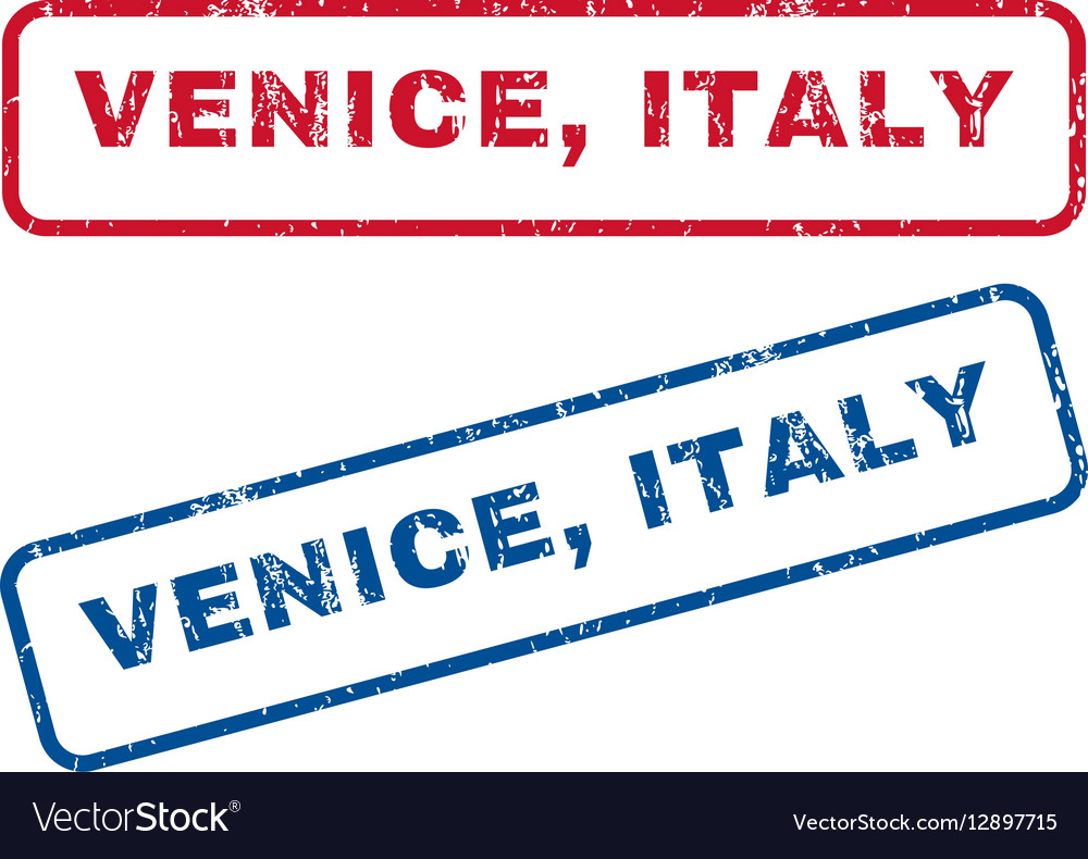 Venice Italy Rubber Stamps vector image
