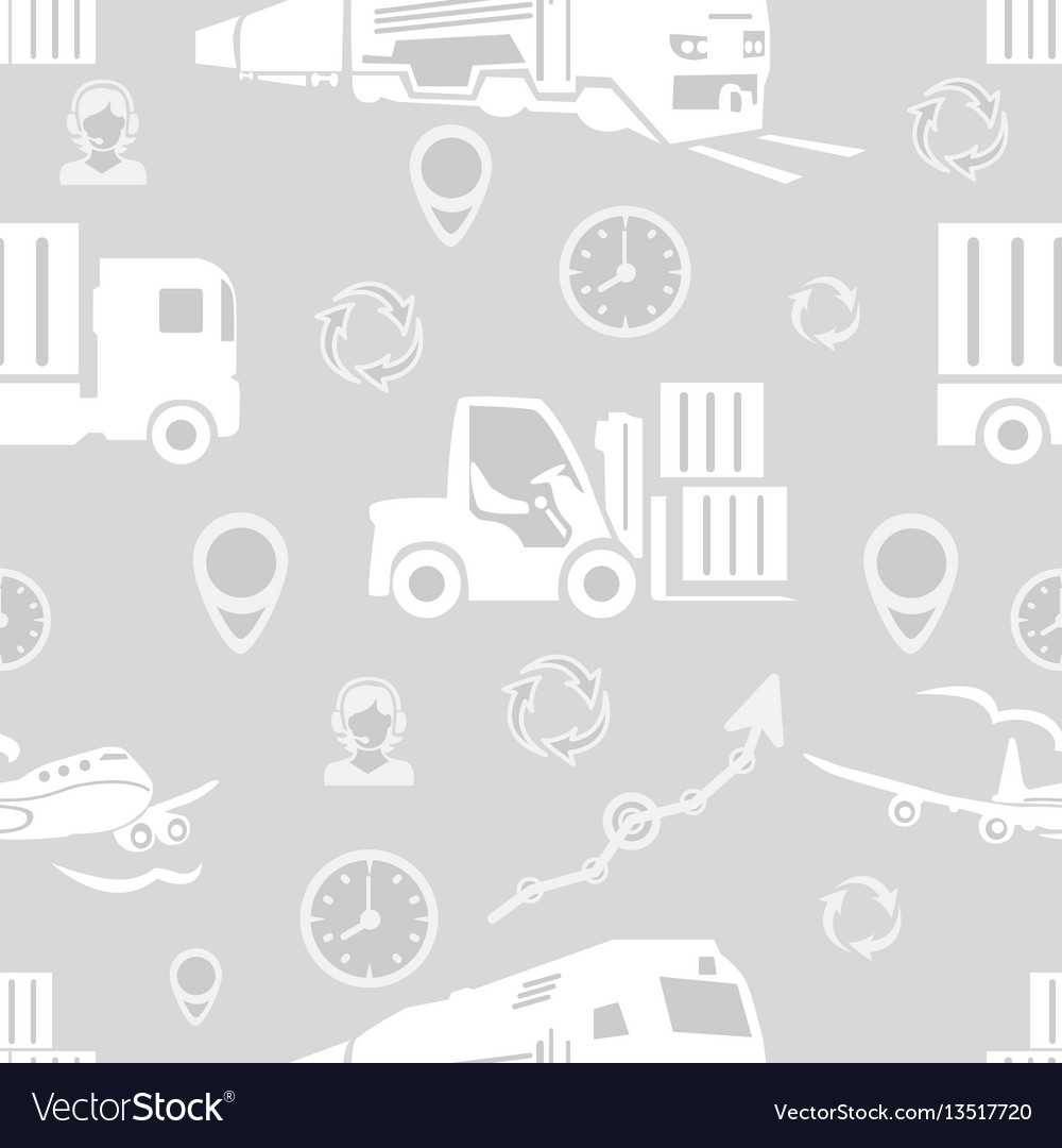 Freight transport seamless pattern