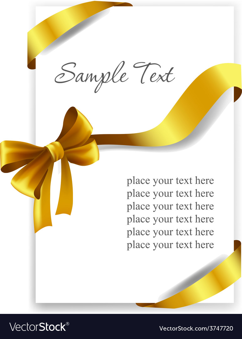 gold gift bow with ribbons royalty free vector image