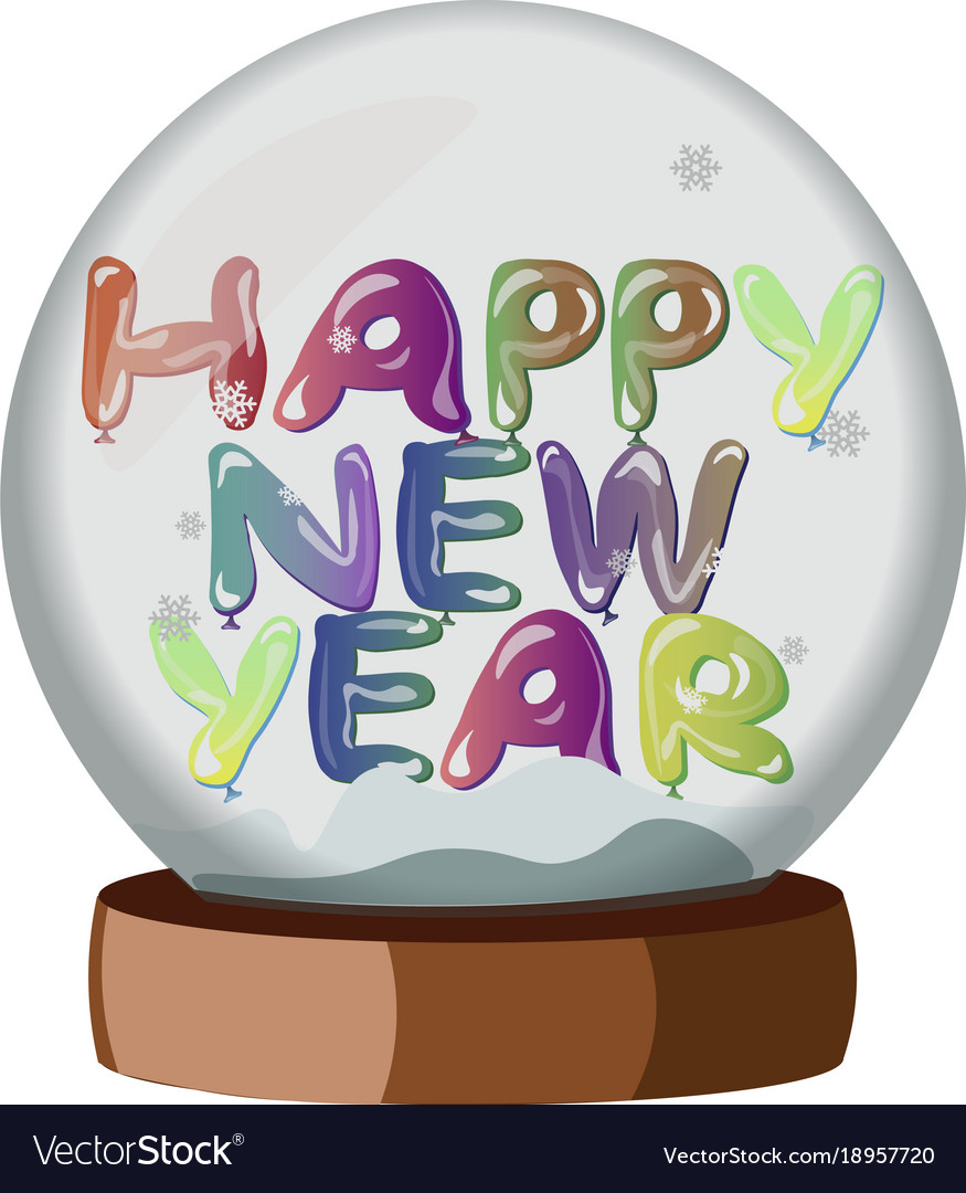 Happy new year on snowball