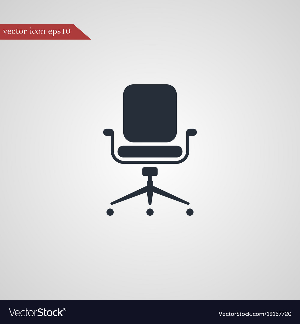 Simple office chair Office Ginnie Habitat Office Chair Icon Simple Vector Image Vectorstock Office Chair Icon Simple Royalty Free Vector Image