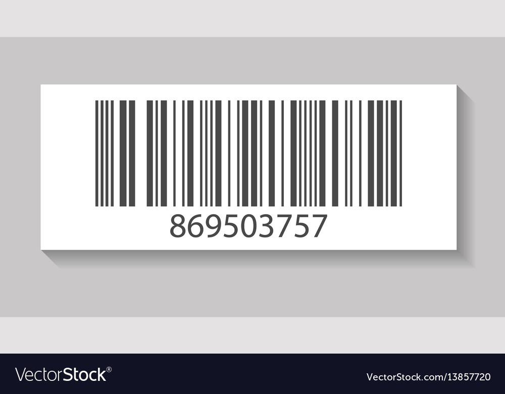 Realistic store barcode isolated icon