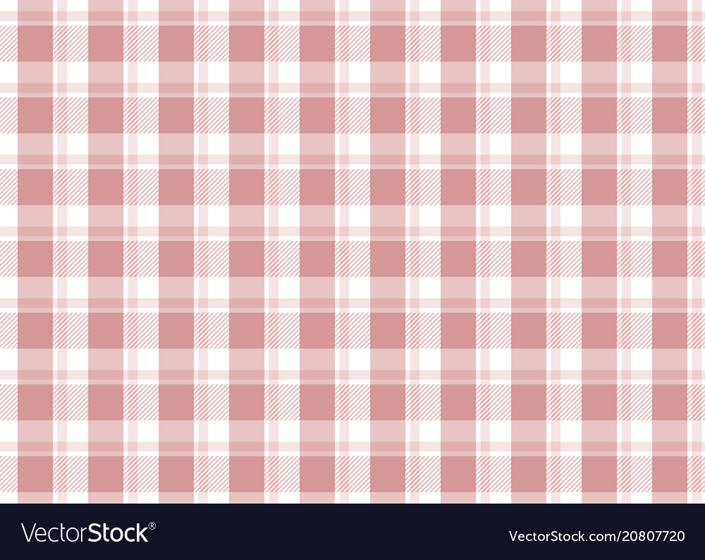 Red Checkered Tablecloth Vector Image