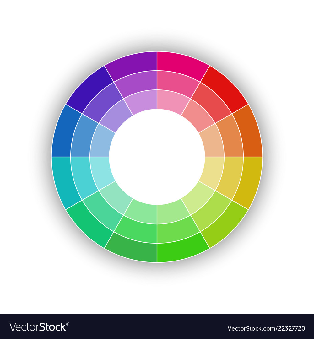 Round color palette isolated on white background