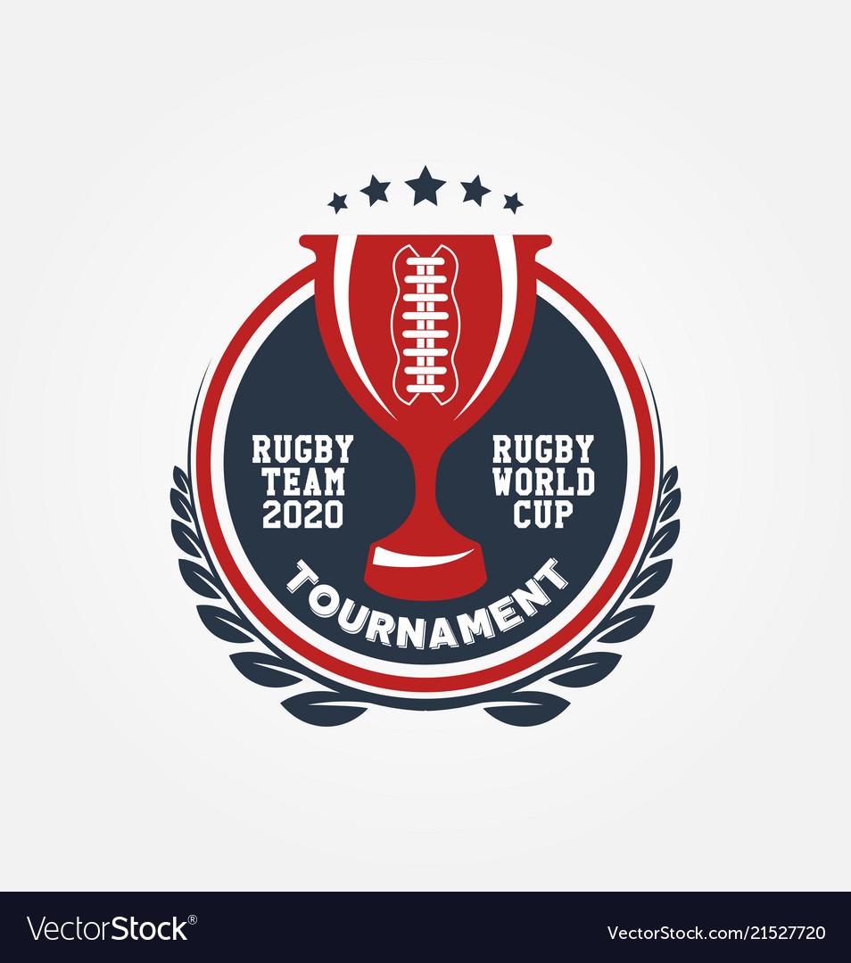Rugby world cup logo sport design