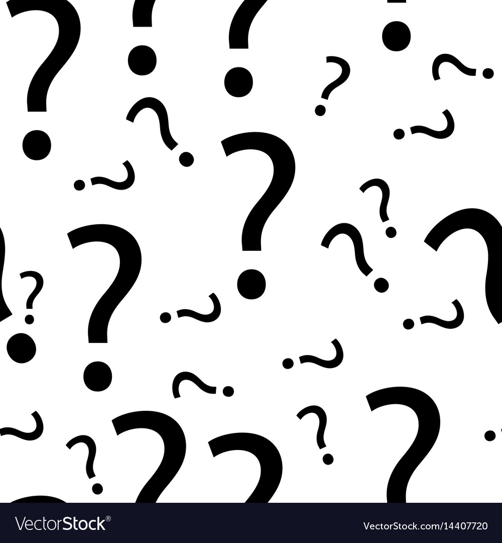 Seamless question mark pattern
