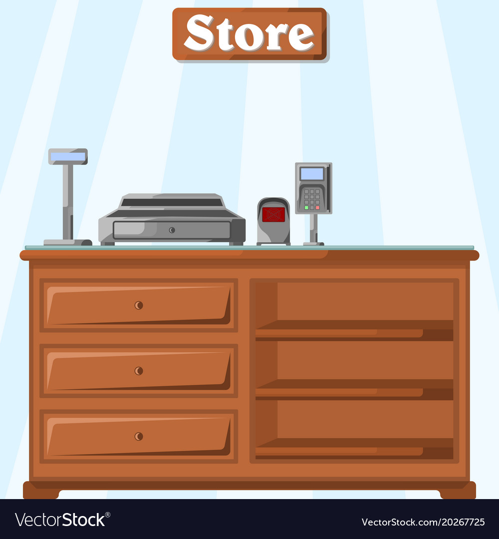 A counter in the store from the