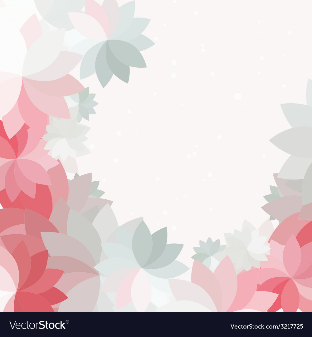 Abstract petal pink flower background vector image