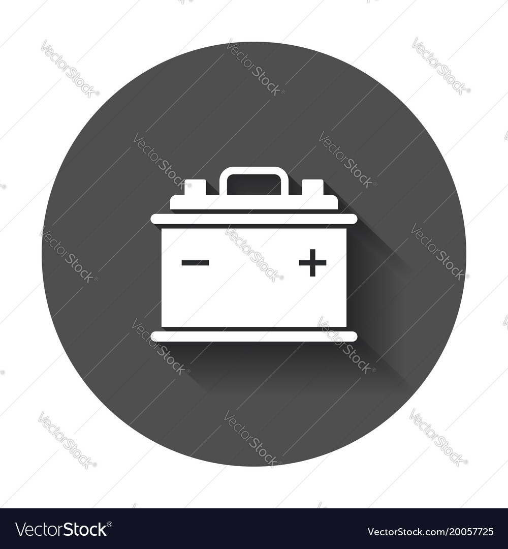car battery flat icon auto accumulator battery vector image car battery flat icon auto accumulator battery vector image
