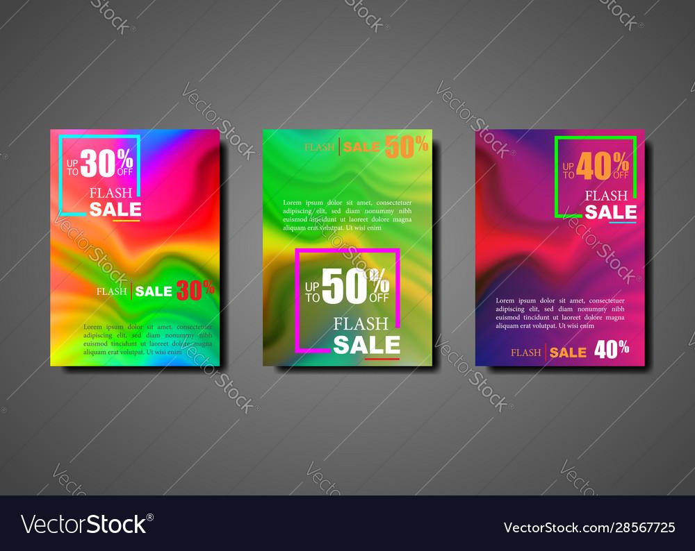 Dynamic modern fluid set brochures for flash sale