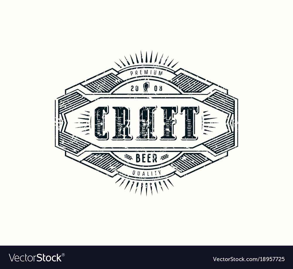 Label with vintage frame for logo emblem sticker Vector Image
