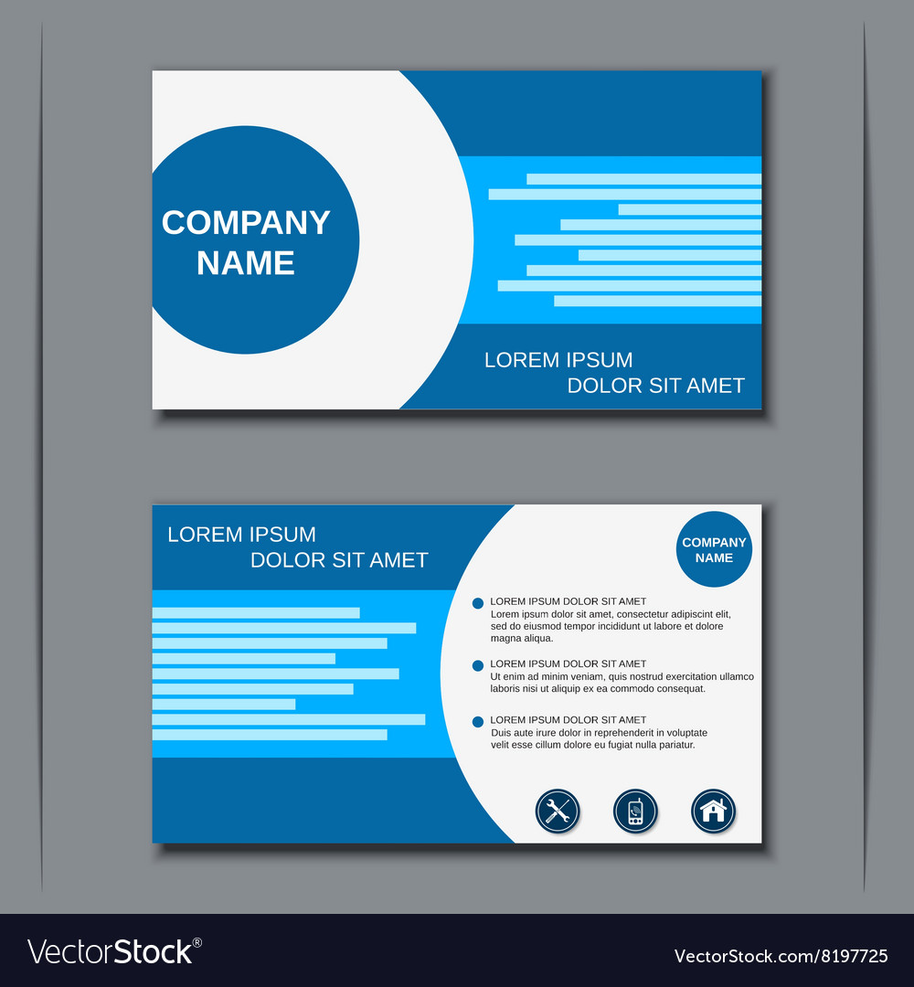 Modern business visiting card design Royalty Free Vector