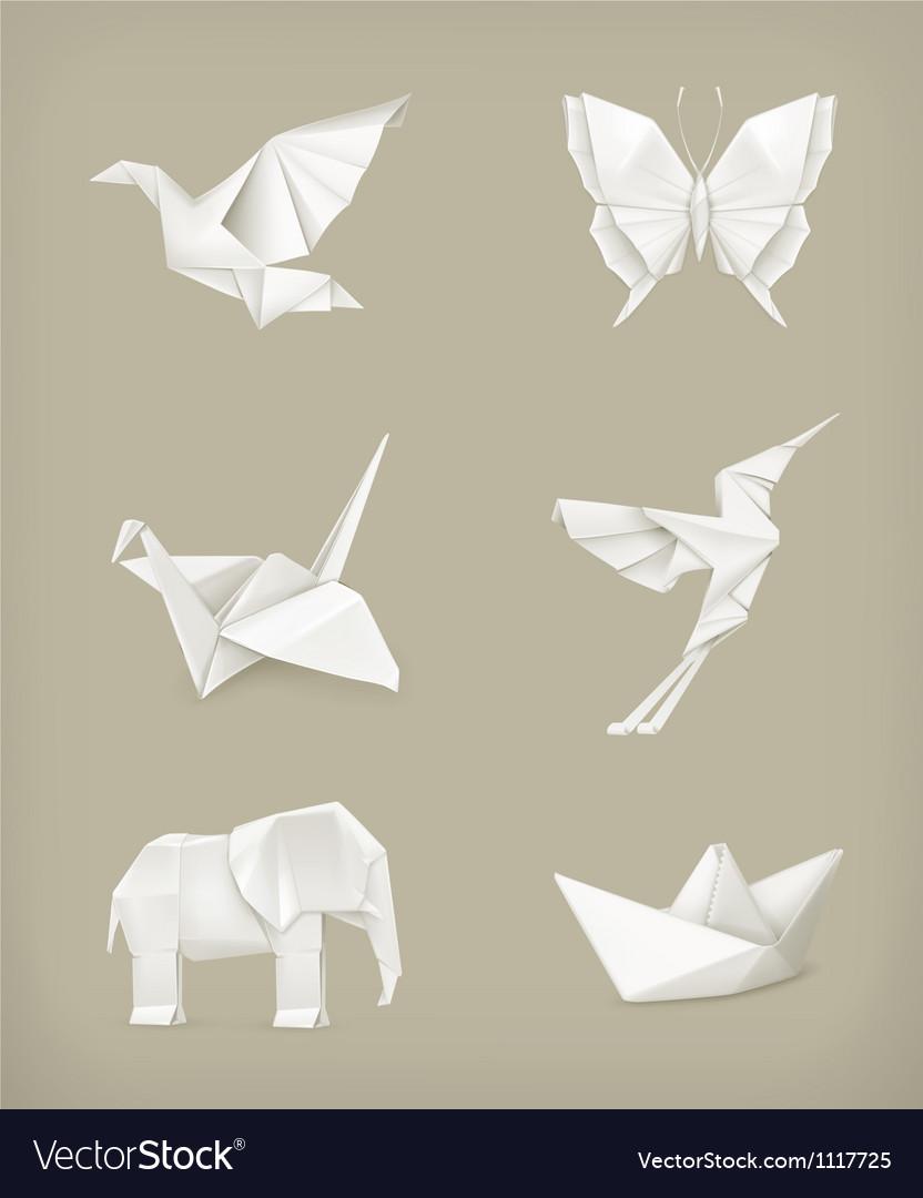 Origami set white