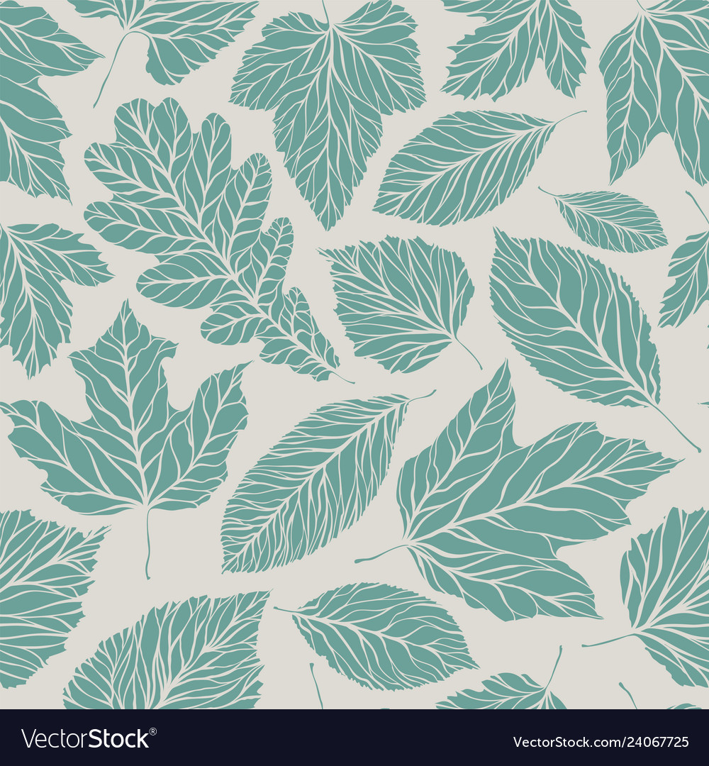 Seamless background decorative leaves pattern