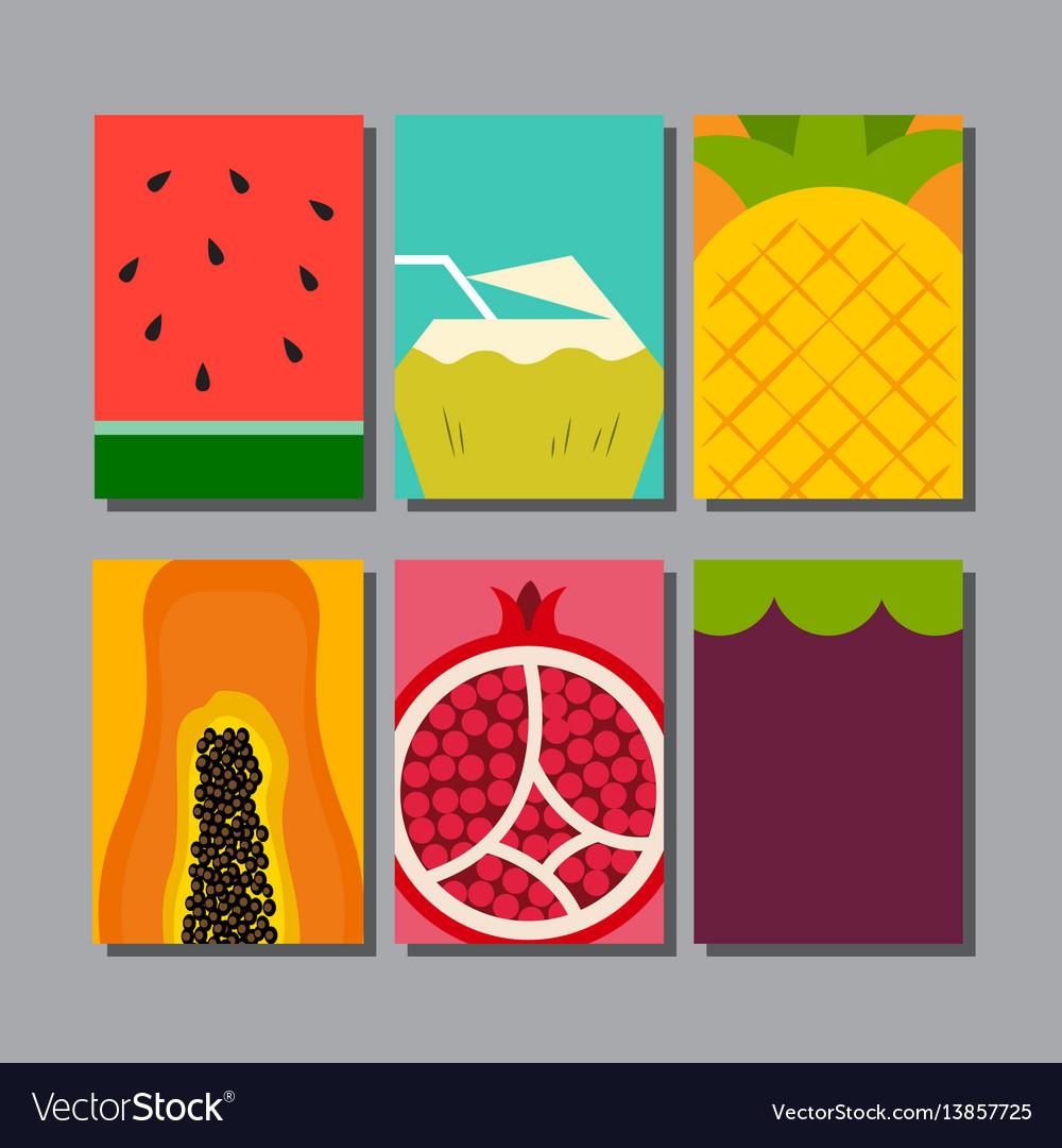 Summer fruit layout designtemplate cover