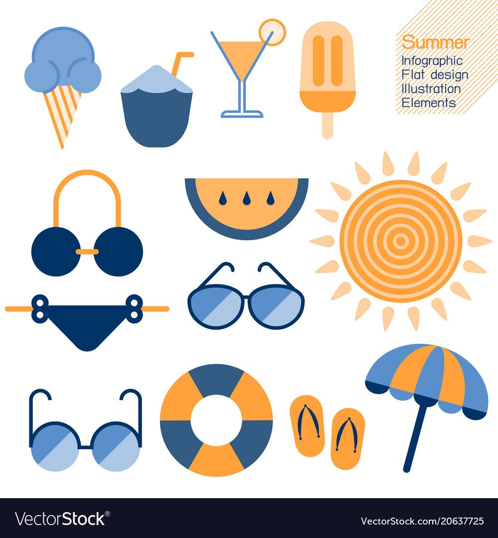 Summertime infographic element
