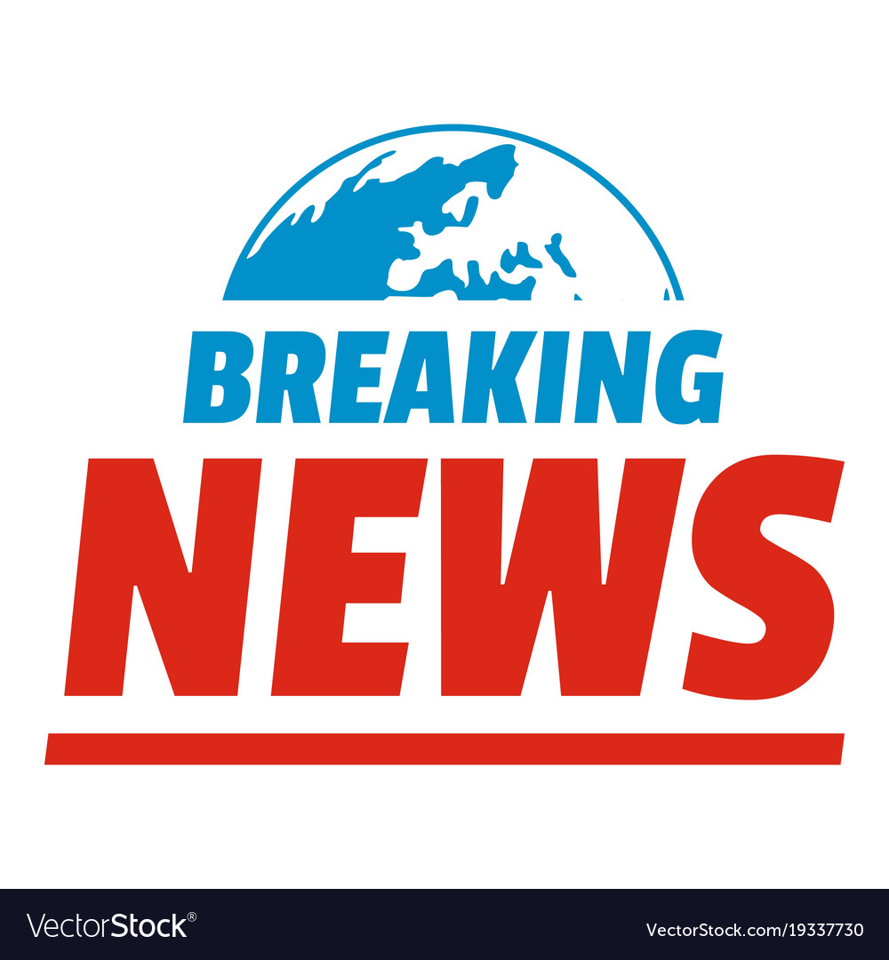 announcement of breaking news icon flat style vector image