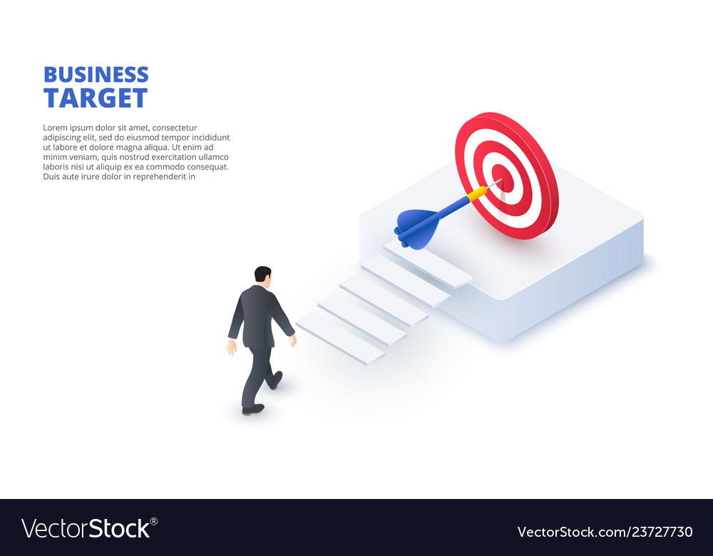 Business target design concept isometric