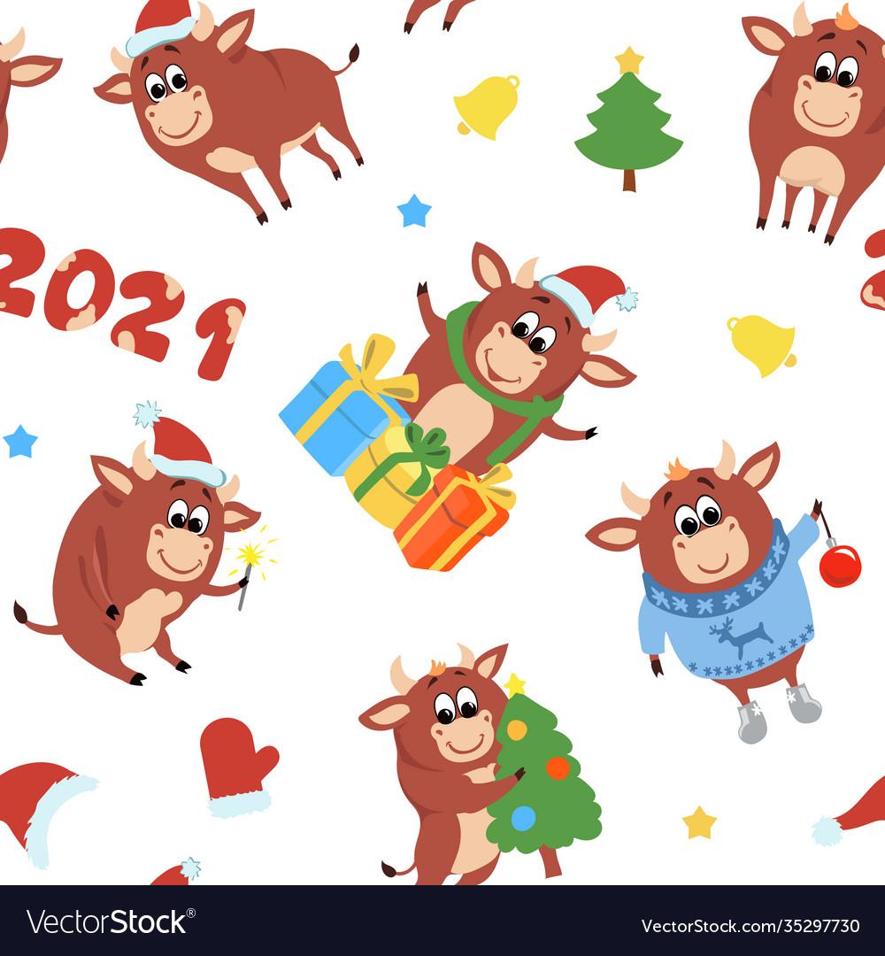 Chinese new year cute ox 2021 zodiac