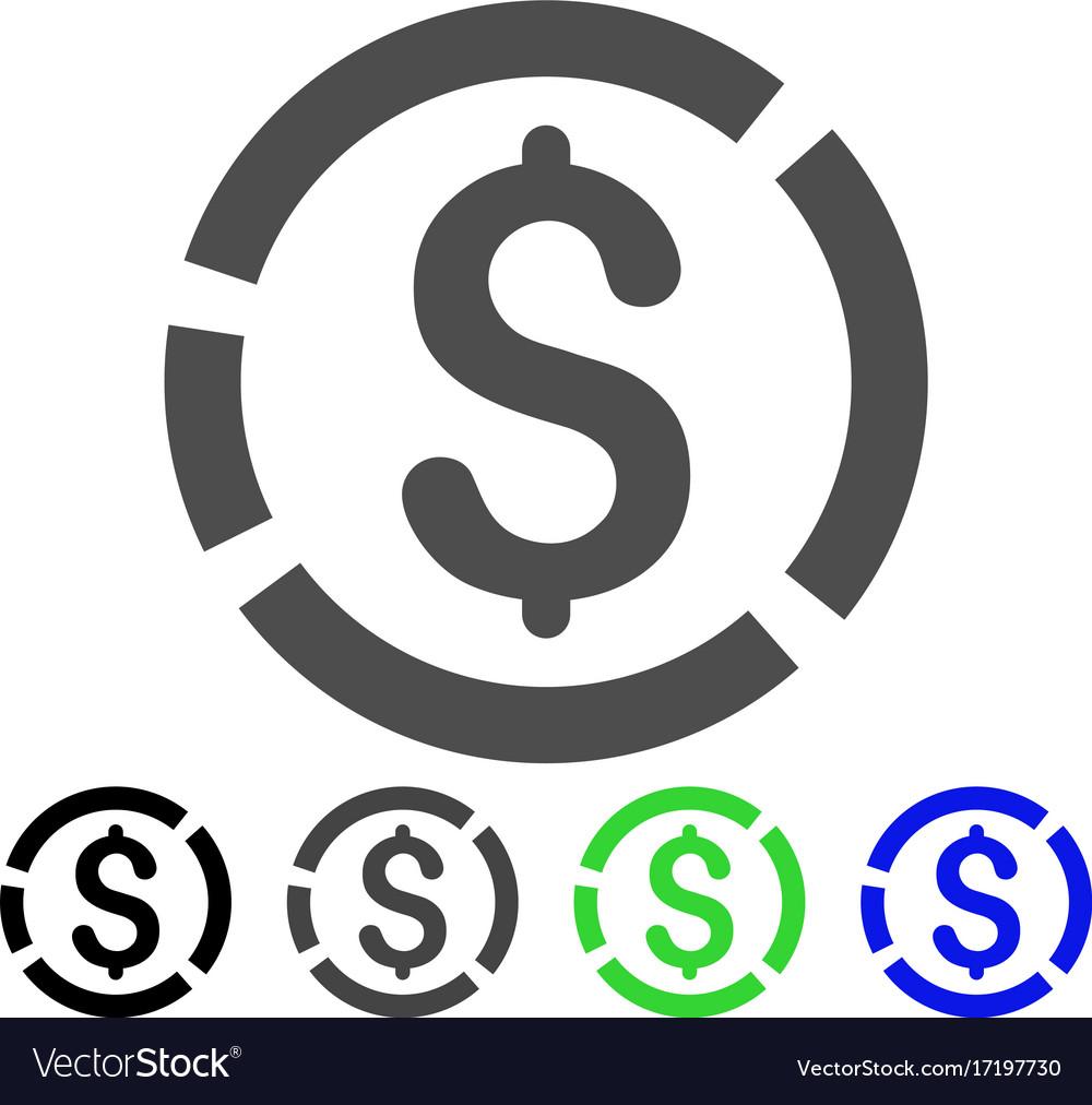 Dollar Diagram Icon Royalty Free Vector Image