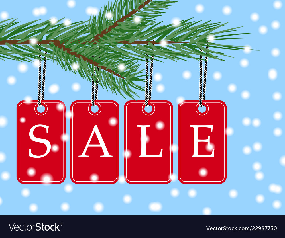 Eps 10 christmas sale banner with red posters
