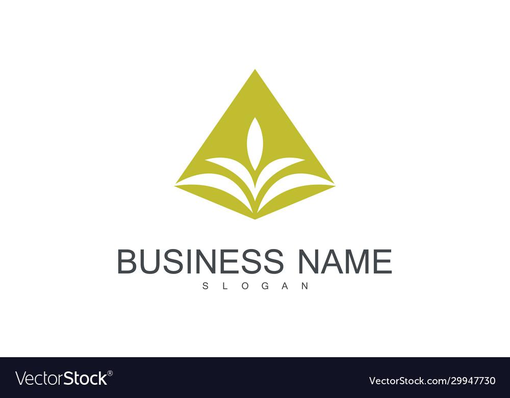 Gold leaf business logo