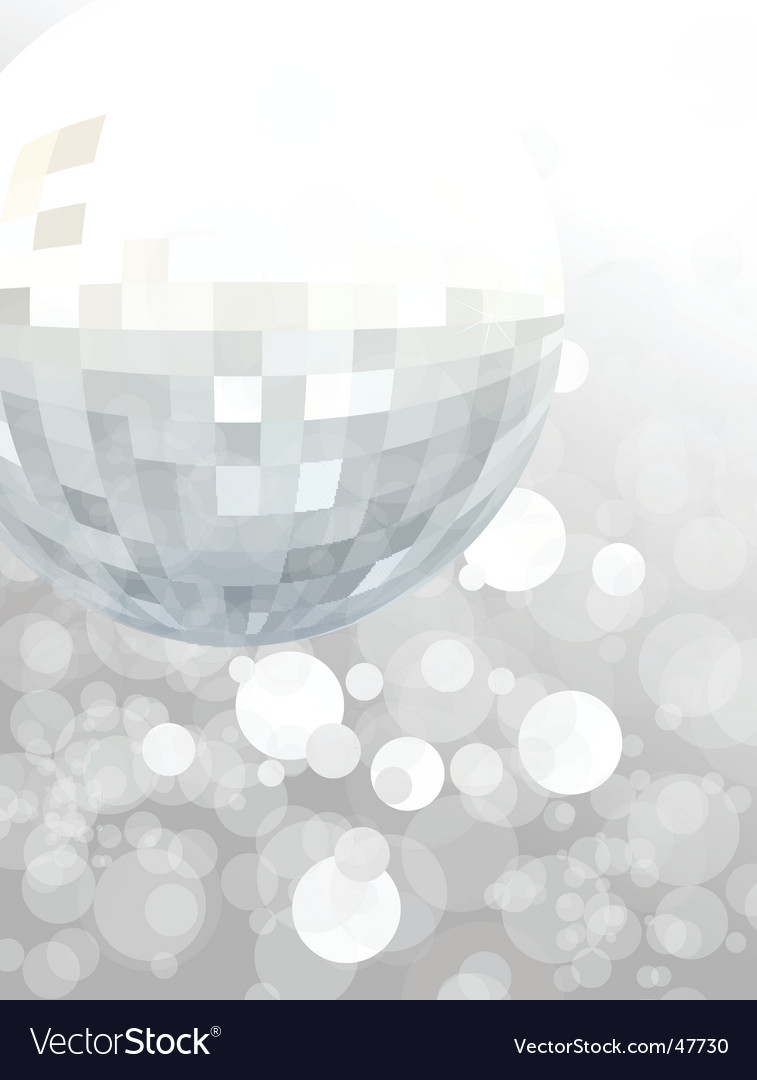 mirror ball party background royalty free vector image