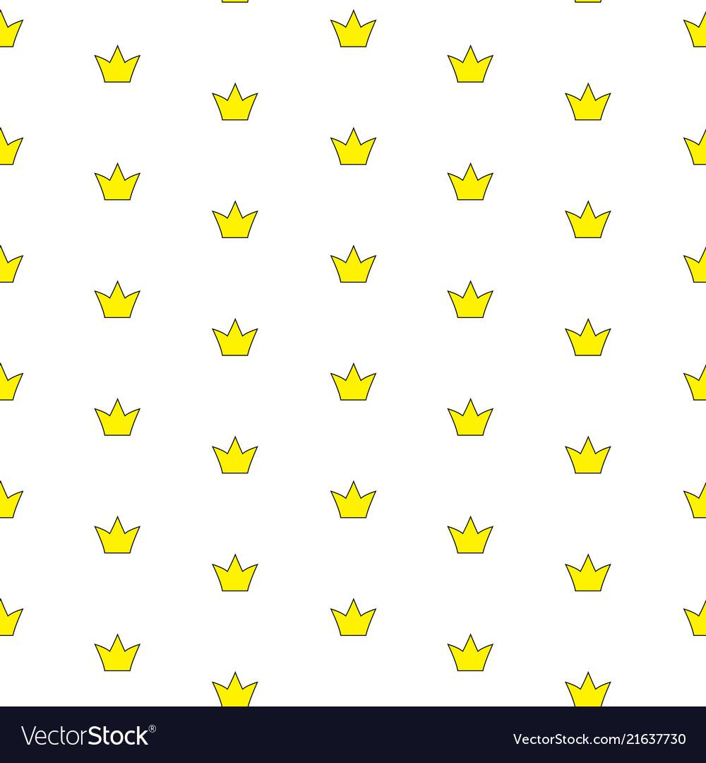 Princess crown seamless pattern background