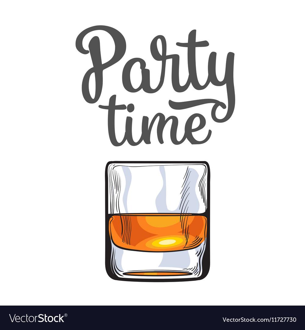Scotch whiskey rum brandy shot glass invitation