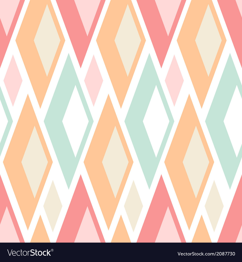 Seamless pastel triangles pattern on white