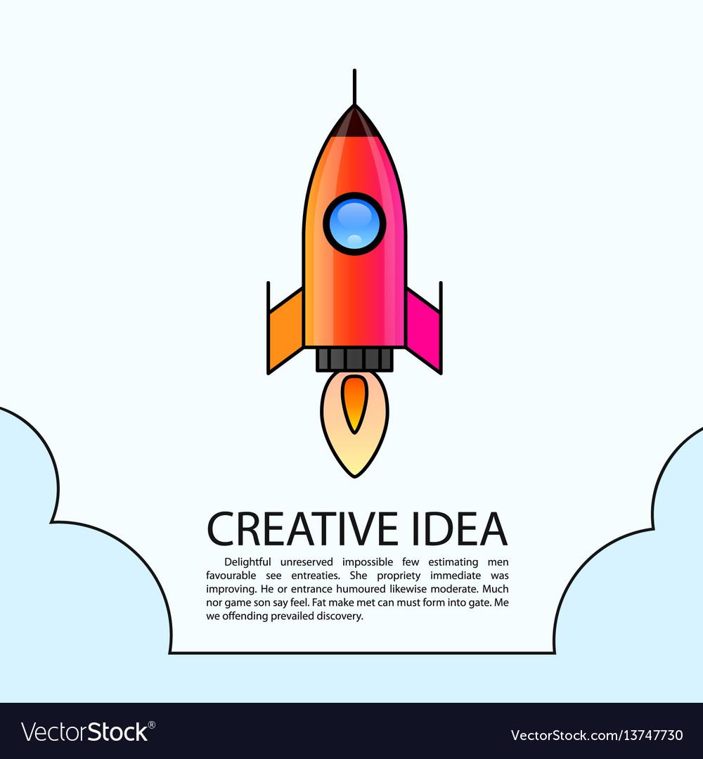 Space rocket launch rocket creative startup