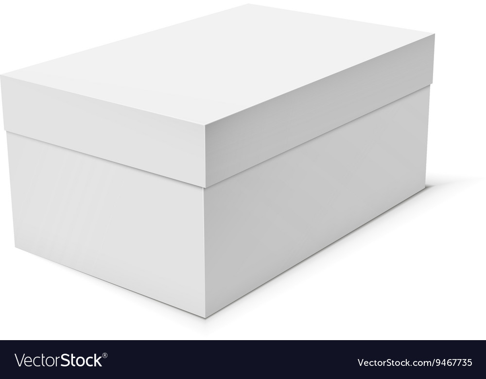 Blank paper or cardboard box template Royalty Free Vector