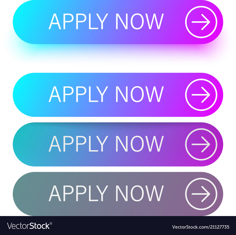Blue and purple apply now buttons isolated on