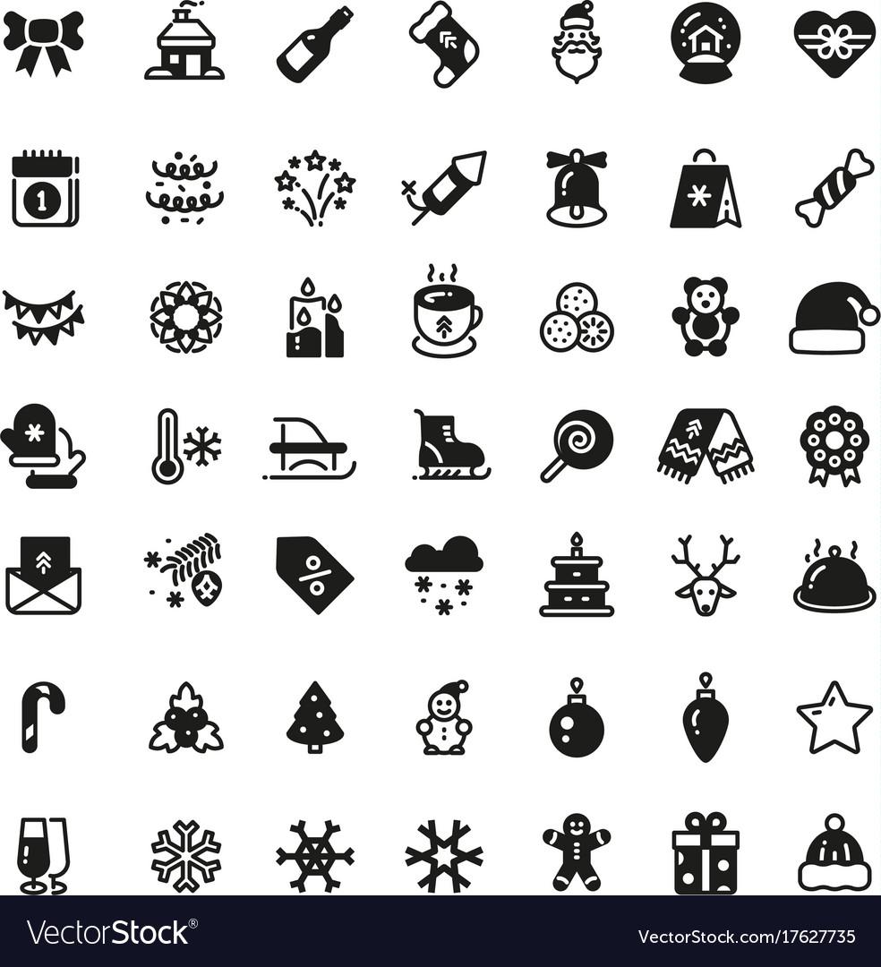 Christmas Holiday Symbols Winter Xmas Royalty Free Vector