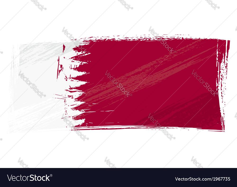 Grunge Qatar flag vector image