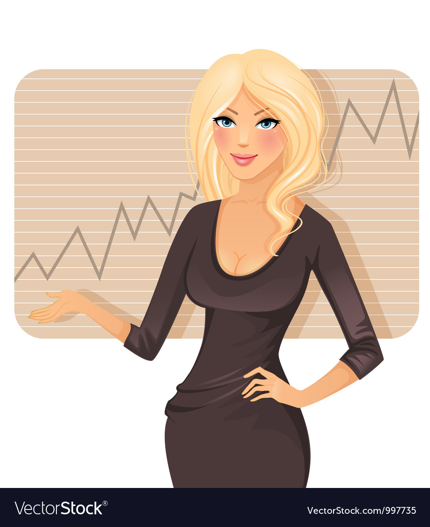 Present woman vector image