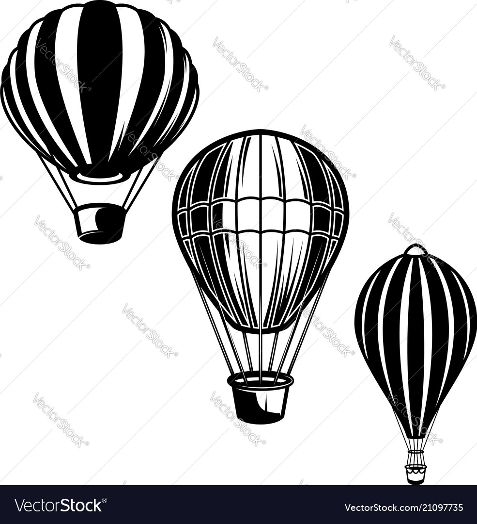 Set of of air balloons design element for logo