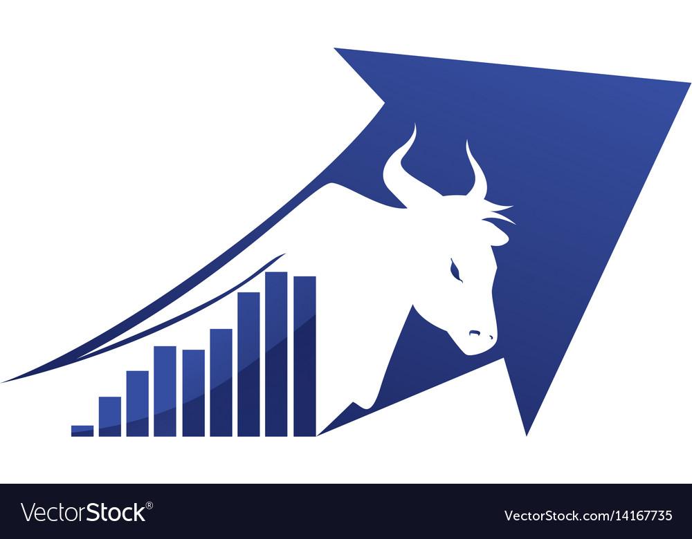 Stock market bull symbol Royalty Free Vector Image