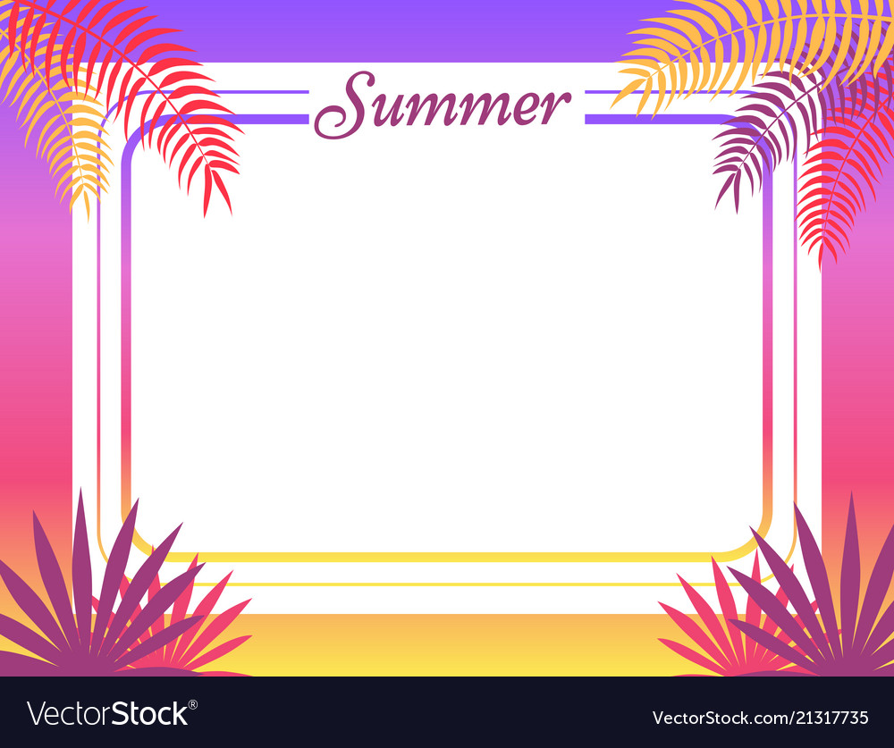 Summer poster place for text