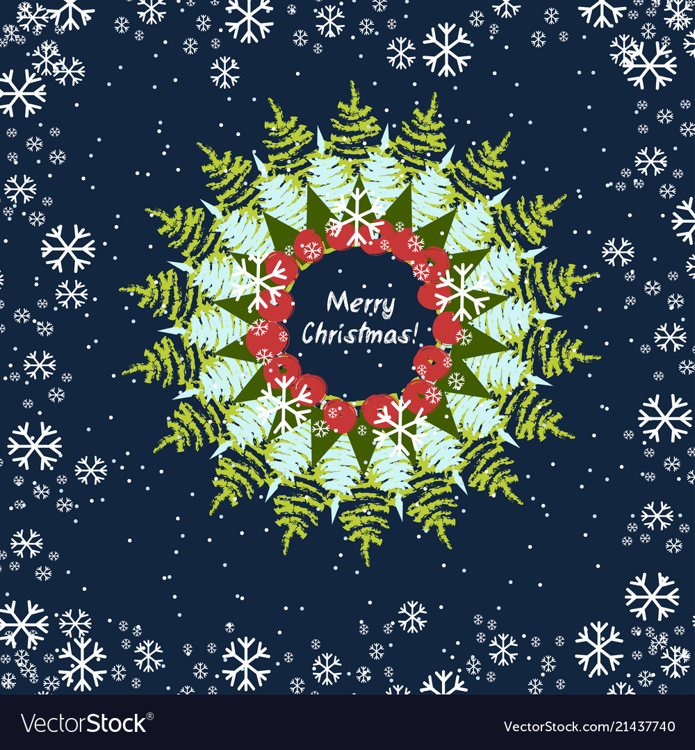Abstract christmas round design