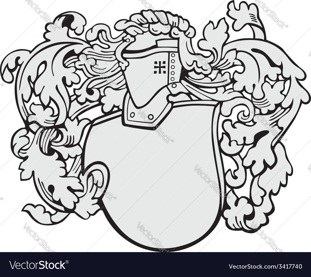 Aristocratic emblem No6 vector image