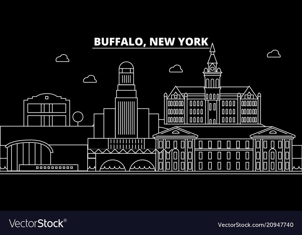 Buffalo silhouette skyline usa - buffalo