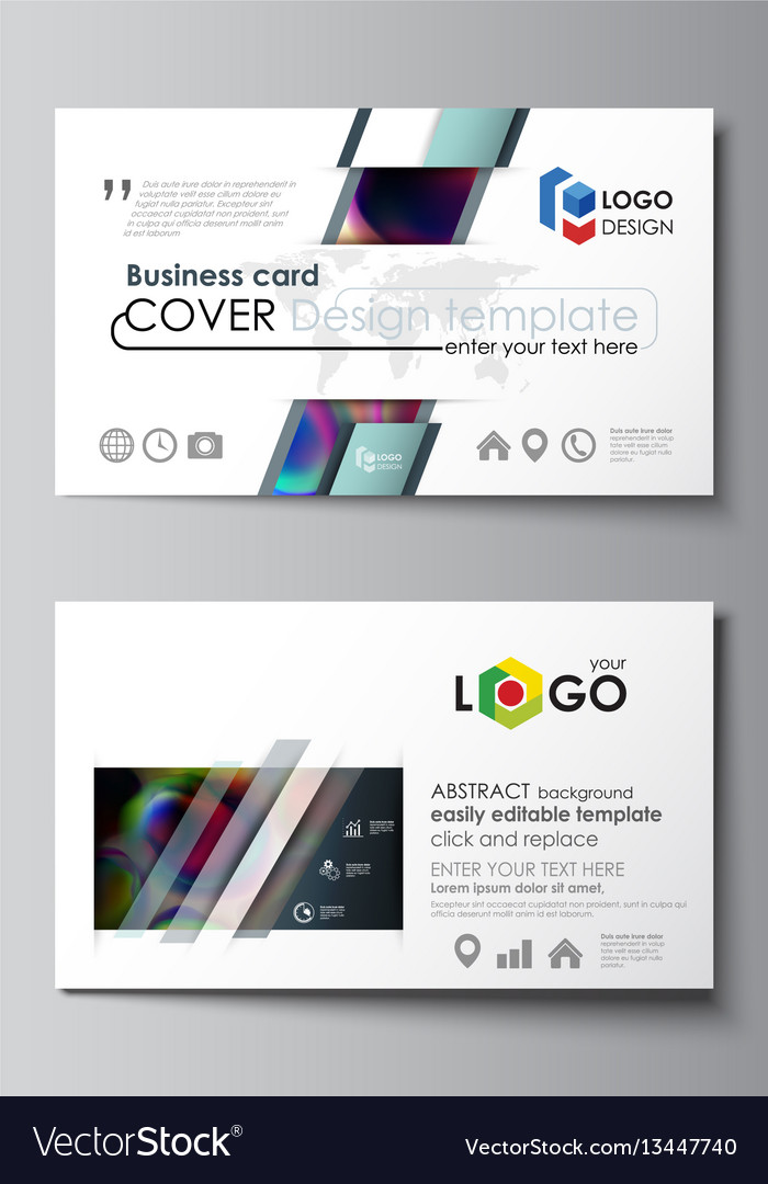 Business card templates easy editable layout vector image accmission Choice Image
