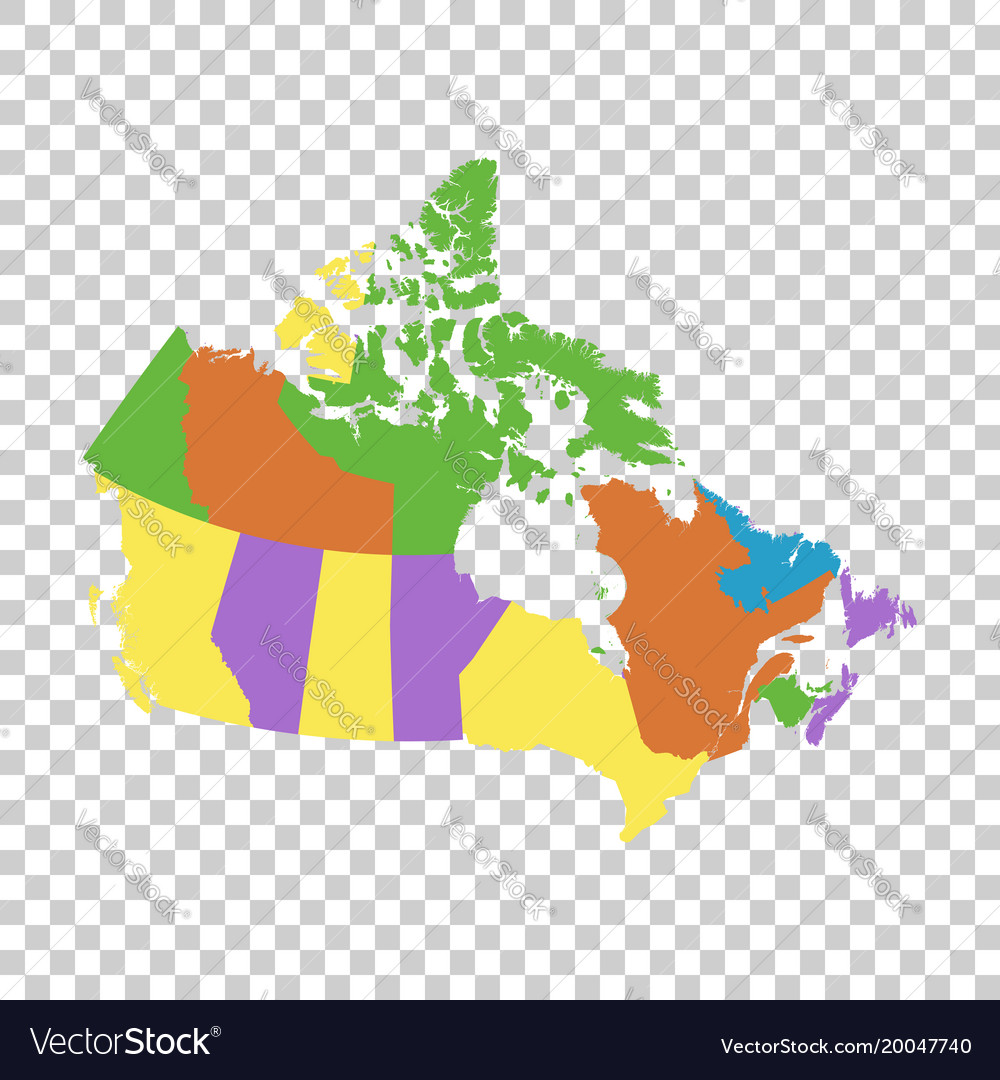 Picture of: Canada Political Map Royalty Free Vector Image
