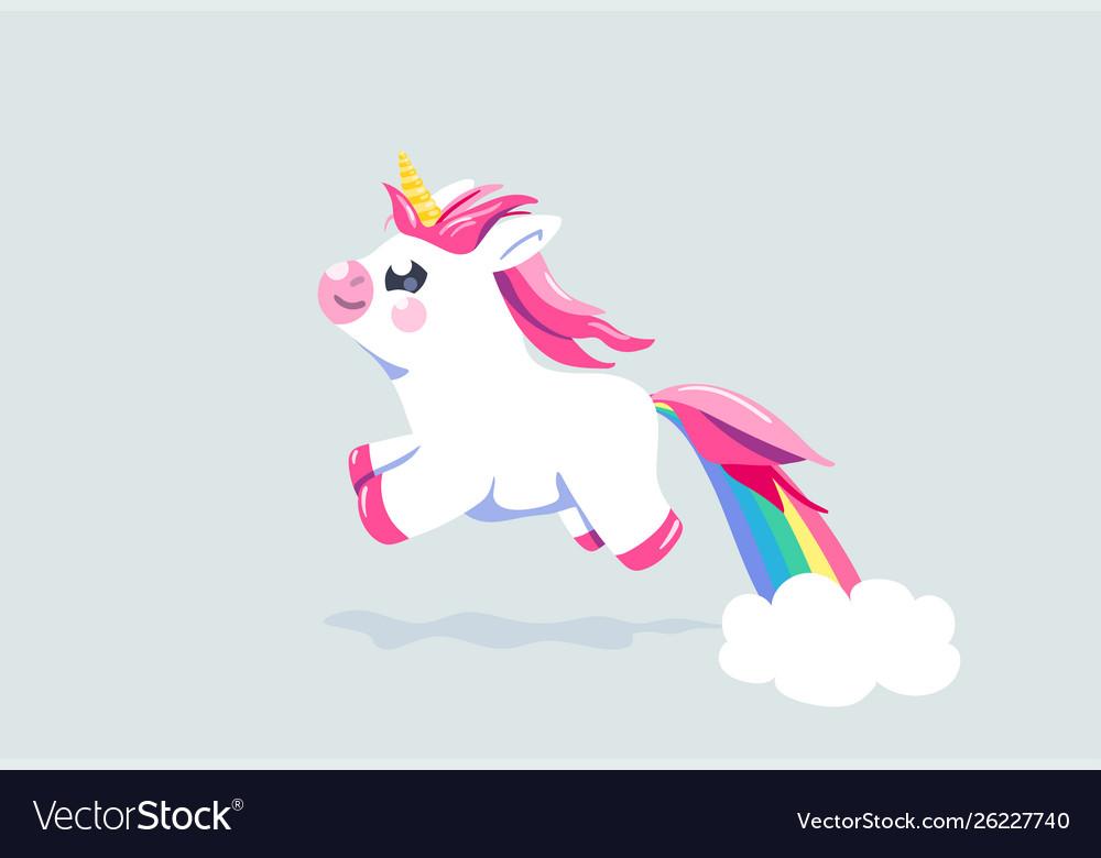 Cute unicorn background bafairy animal